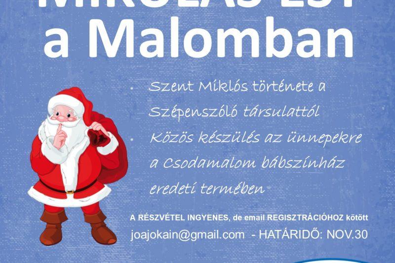Mikulás est a Malomban!