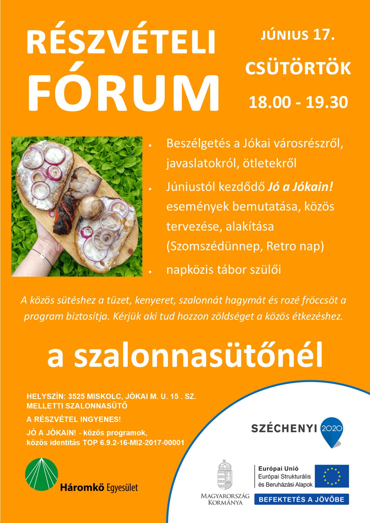 részvételi fórum plakátja